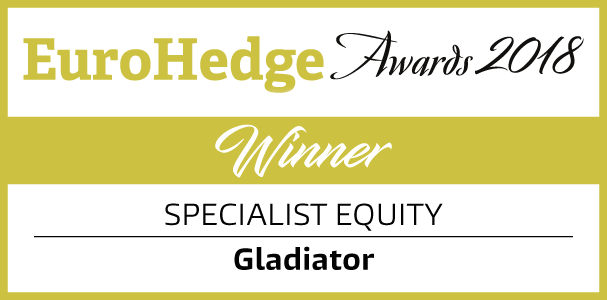 EuroHedge Awards 2018. Winner Specialist Equity: Gladiator.